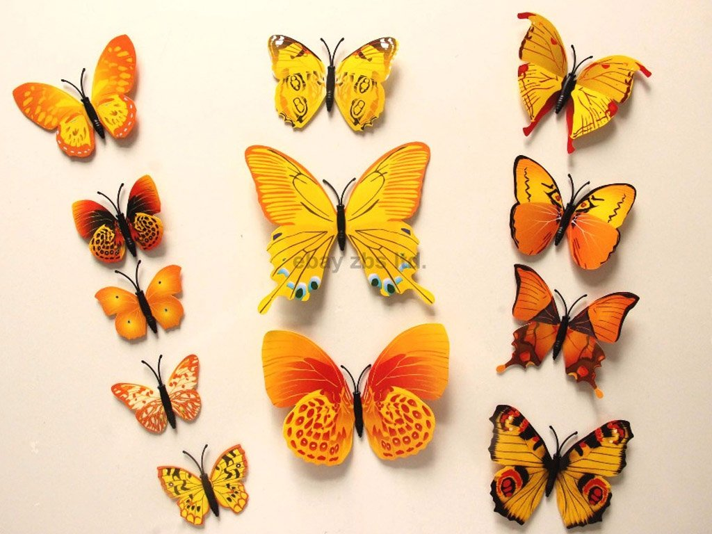 12 pcs. Stick-on decorative 3D butterflies. FREE Shipping ...