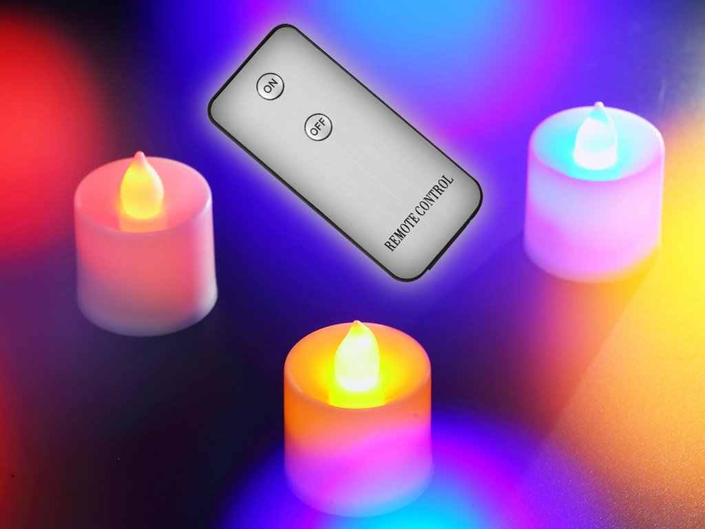 3 pcs led candles with remote control free shipping. Black Bedroom Furniture Sets. Home Design Ideas