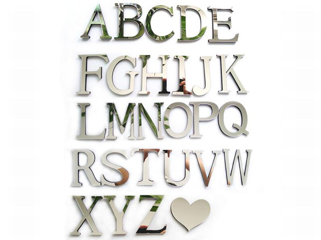 3d decoration letters of the alphabet free shipping for Alphabet decoration