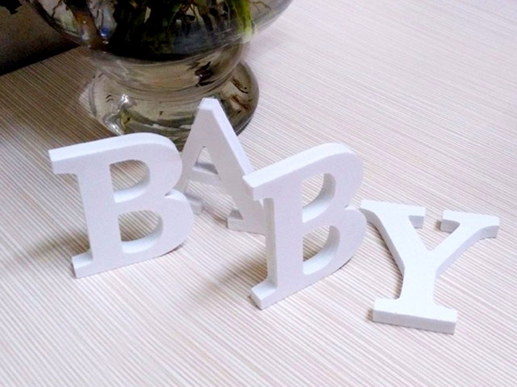 3D decoration white LETTERS of the alphabet. FREE shipping