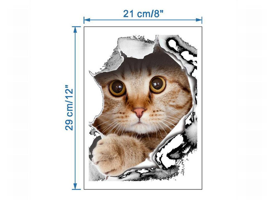 3d Stickers Of Dogs And Cats Free Shipping