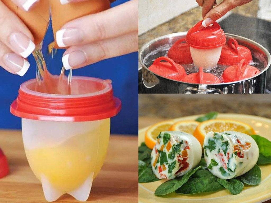Cooking Moulds For Boiling Eggs Without Shell  FREE Shipping