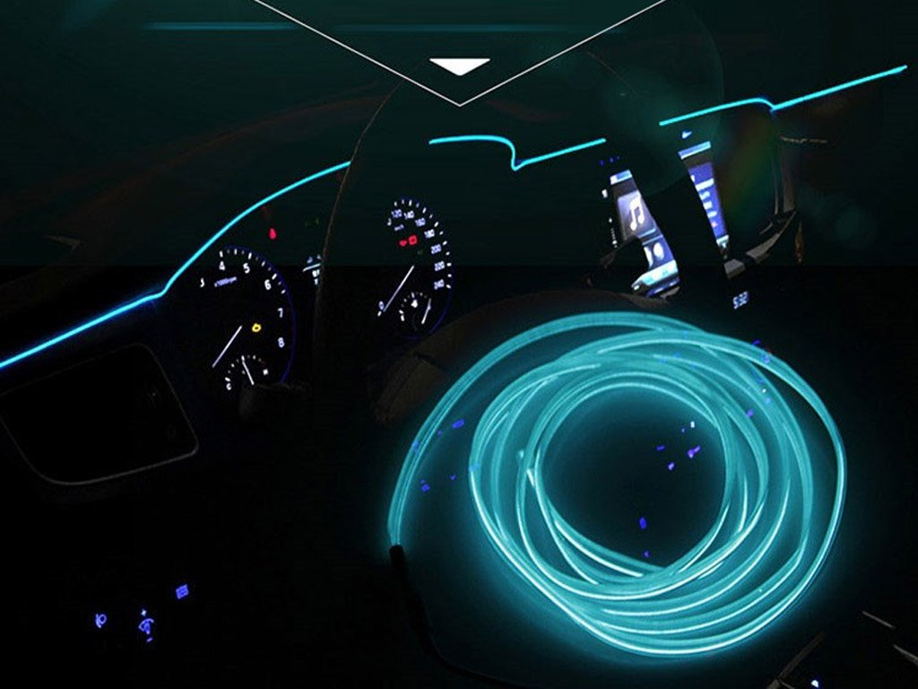 Neon Led Strips For Car Interior 3 Meters Free Shipping