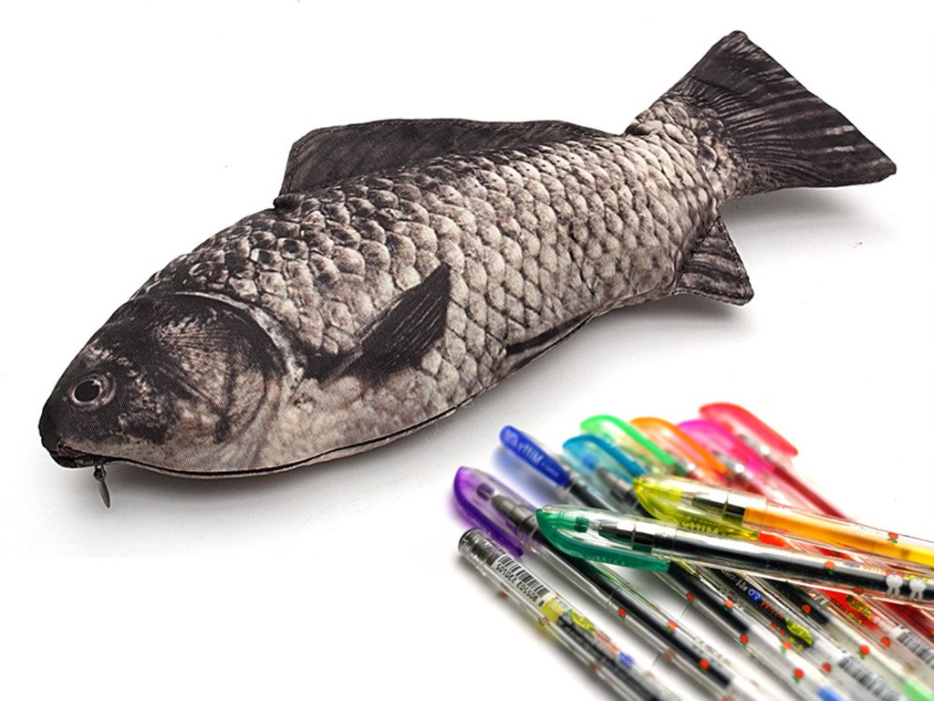 Pencil case dead fish free shipping for Fish pencil case