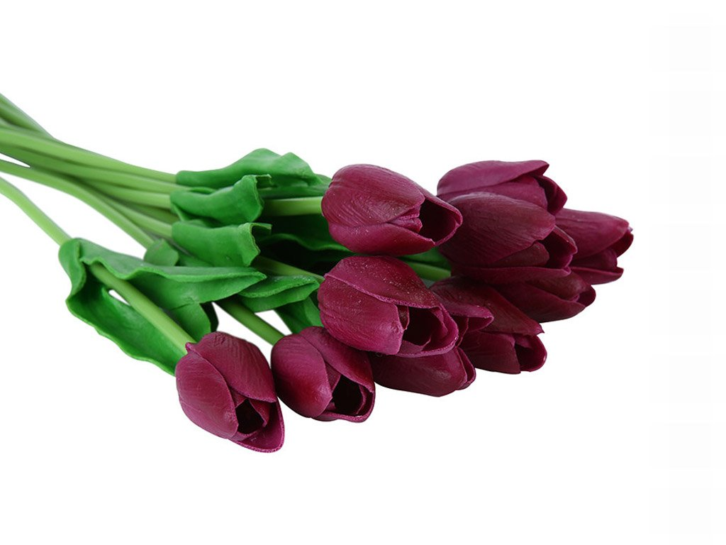 Tulips 10 pcs of artificial flowers FREE SHIPPING