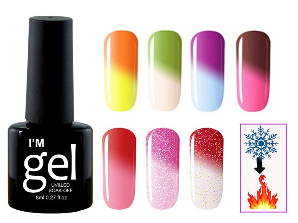 UV Gel Nail Polish changing Color according the Temperature. FREE ...