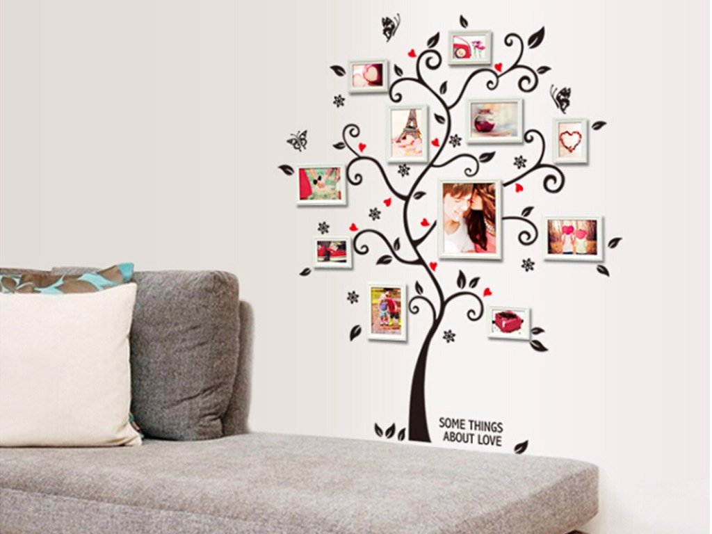 Wall sticker in the shape of a tree for photo frames free 1 of 7 amipublicfo Choice Image