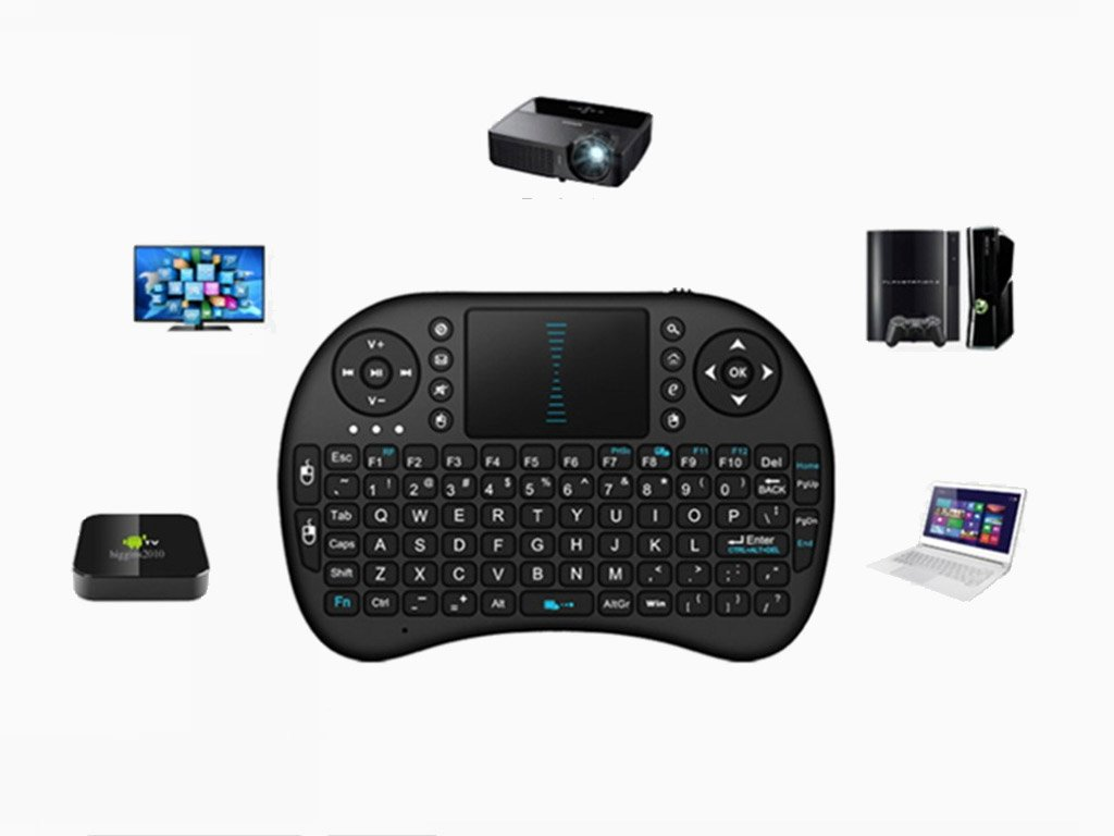 Wireless Remote Control Keyboard And Touch Pad Free